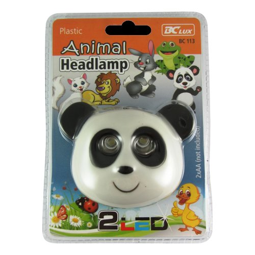 LED čelovka panda