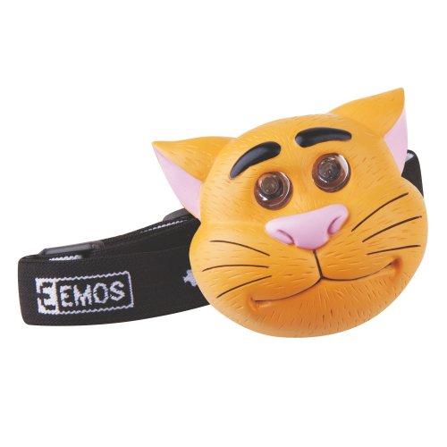 LED čelovka kočka